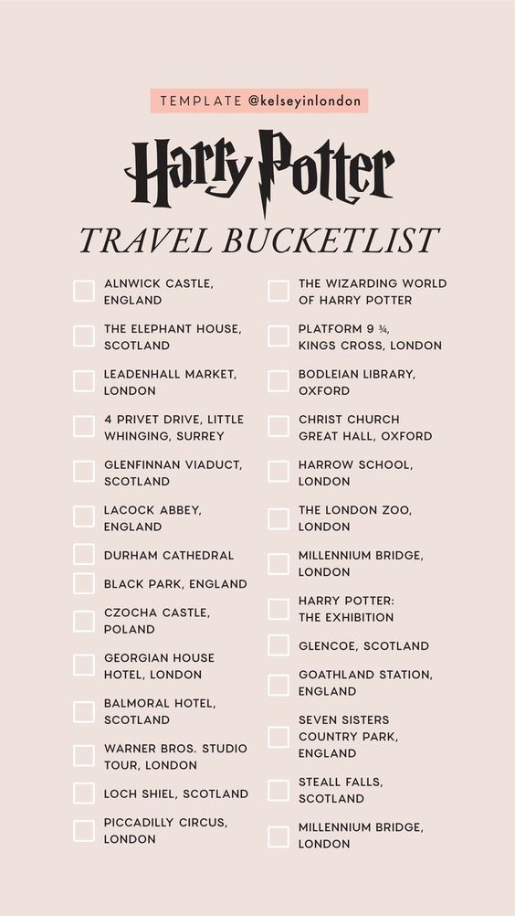 instagram story templates harry-potter kelsey henrichs kelseyinlondon harry potter bucket list harry potter would you rather harry potter this or that