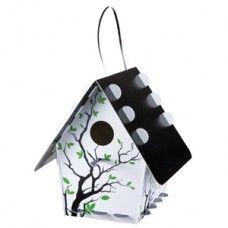 Bird House - Tweet Classic Branch Silhouette - a gorgeous contemporary design on this bird house. http://www.mrgift.com.au/tweet-bird-house/bird-house-branch #birdhouse #gardengifts #giftsformen
