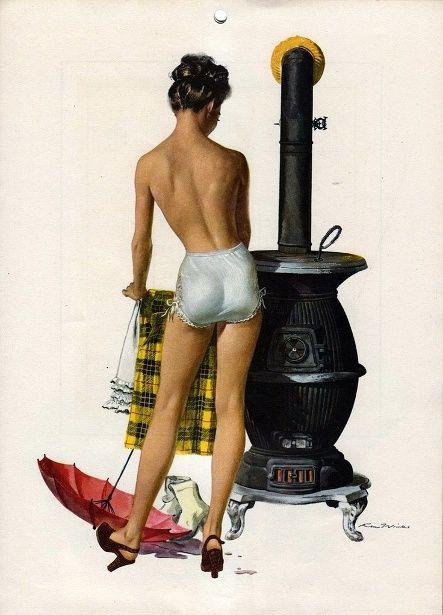 Exposure-Drying Clothes, Ren Wicks(1911-1998, American), (via exposure-drying-clothes.jpg (443×615))