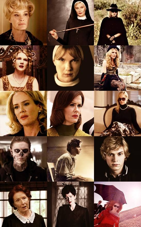There since the beginning AHS {Lily Rabe} {Sarah Paulson} {Evan Peters} {Jessica Lange} {Frances Conroy}