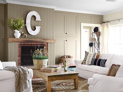 Camera Da Letto Bianca Come Arredarla : Country Living Room Paint ...