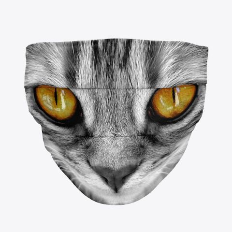 Cool Cat Face Mask In 2020 Cat Face Mask Cool Cats Cat Face