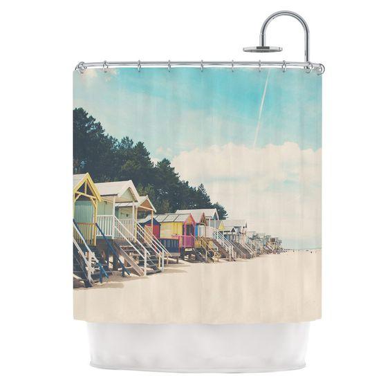 Coastal Town Shower Curtain