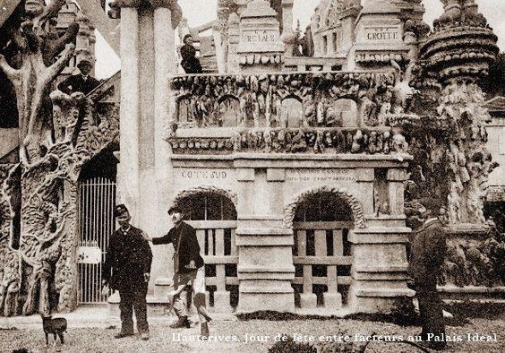 Facteur Cheval, picassiette,Rotheneuf,photo-montage,carte postales,Laurent Jacquy,Cent regards pour le facteur Cheval,les beaux dimanches,palais déal