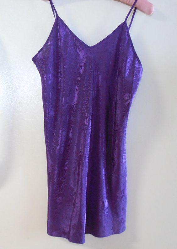 Nightie negligee lingerie spaghetti strap by TillieLuvsTreasures