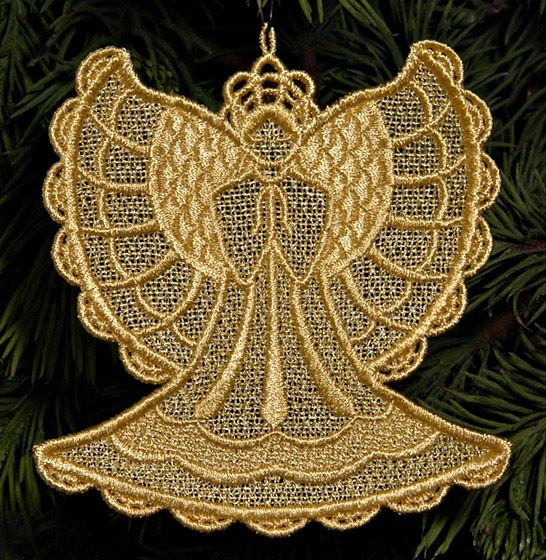 Stand Alone Lace Embroidery Designs : Machine embroidery designs k lace™angels and sets with