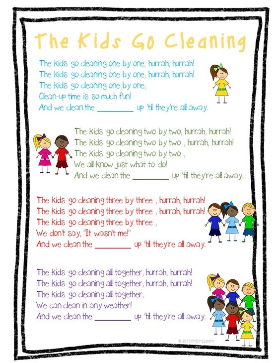 Great song for clean up time to remind students of expectations! Get 3 more management songs on posters (black and white too), and poetry notebook copies as well! Tips and ideas included in the pack as well!