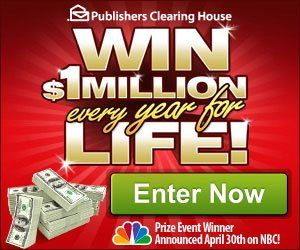 PCH win $1 MILLION a YEAR for life
