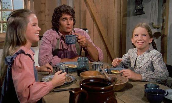 Foto: La taza de Michael Landon quizá contenía whisky, y puede ser que las niñas estuviesen tramando destripar a algún animal.