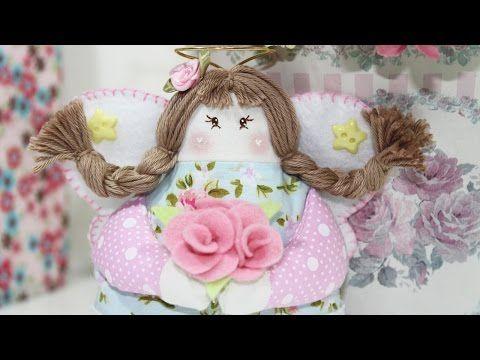 Artesanato Tecido - Como Fazer Bonecas de Pano ( Parte 2 ) - Segredos de Aline - YouTube