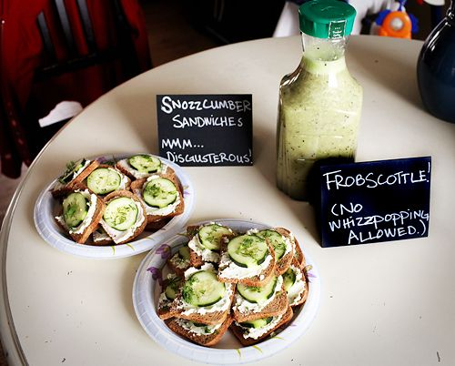 Snozzcumber Sandwiches and Frobscottle recipe