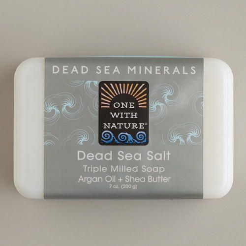 One of my favorite discoveries at WorldMarket.com: One With Nature Dead Sea Salt Soap