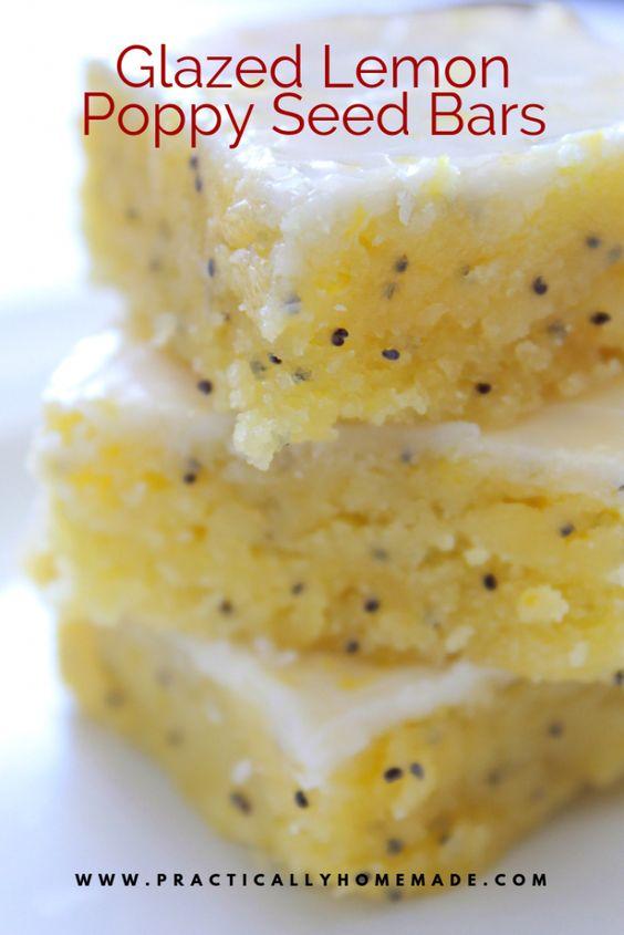 Glazed Lemon Poppy Seed Bars