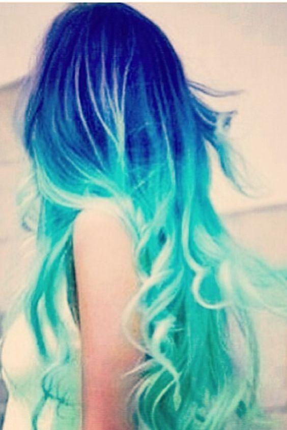 dark blue and more light blue hair blue hair dark blue light blue dark ...