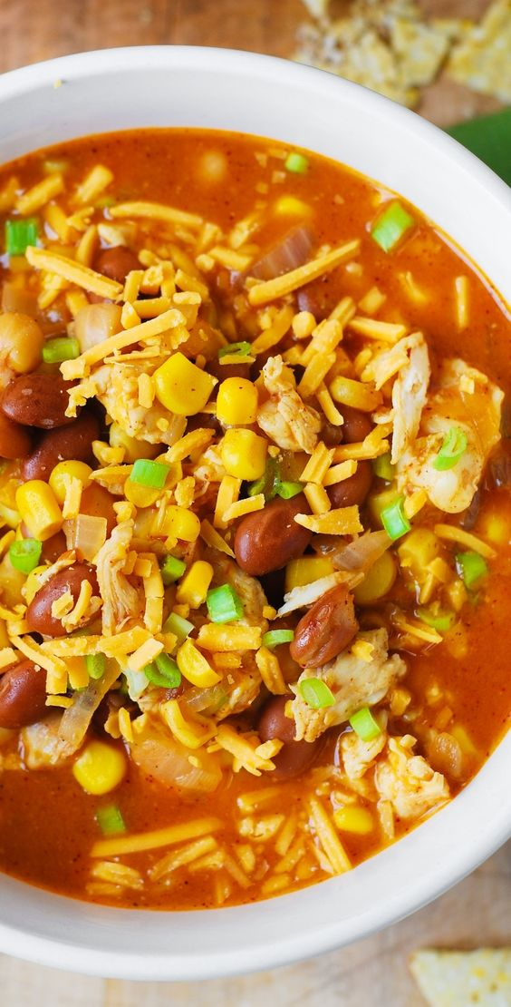 White chicken chili, Pinto beans and Chicken chili on Pinterest