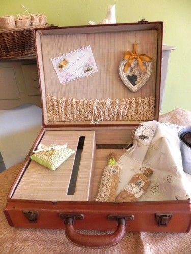 une valise relooke en urne de mariage - Valise Urne Mariage