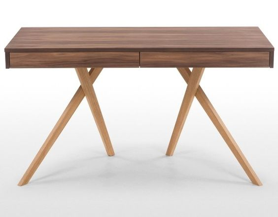The Darcey Desk In Walnut And Oak. Add A Modern Sophistication To Your  Office With Sleek Legs And Lacquered Oak. £399 | MADE.COM | Home |  Pinterest | Desks, ...