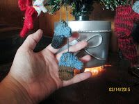 Tiny knitted mittens