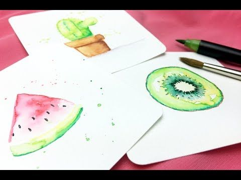 Kleine Aquarellbilder Mit Brushpen Und Wasser Youtube Aquarell