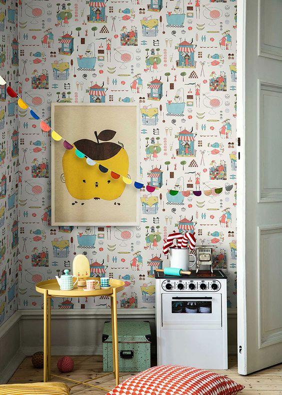 6 идей для оформления стен в детской.