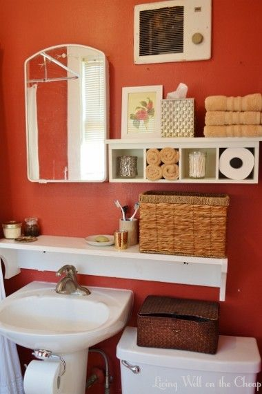 Simple Decorative Shelf For Above Bathroom Sink  Bath Ideas  Juxtapost