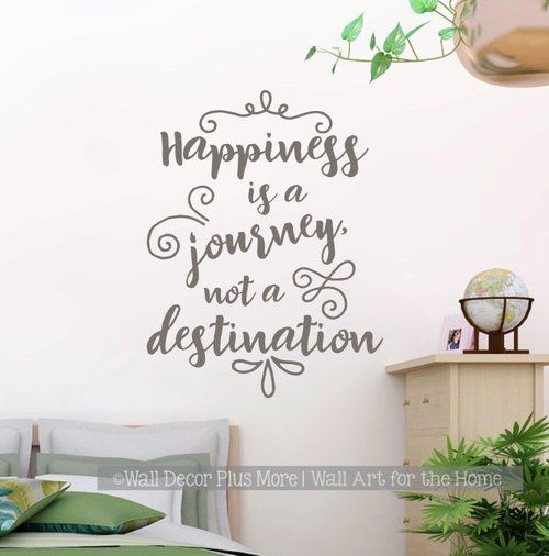 Inspirational Wall Decal Stickers Happiness A Journey Class Decor Quote Castlegray Inspirational Wall Decals Wall Decal Quotes Inspirational Simple Wall Decor