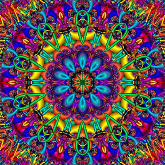 amazing rainbow fractal art - photo #17