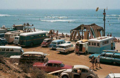retro beachin