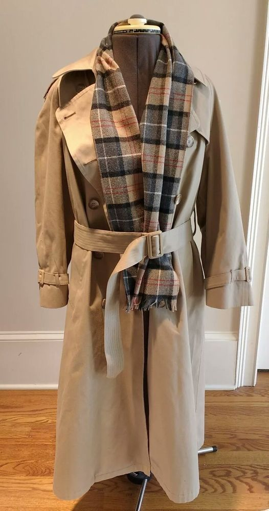 Women S London Fog Trench Coat Burberry Plaid Scarf And Liner With Belt Size 10p Londonfog Trench Any Burberry Plaid Burberry Trench Coat Trench Coat