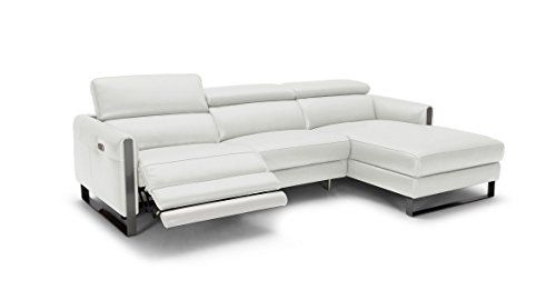 J M Matte Grey Italian Leather Vella Premium Motion Sectional Sofa Recliner Right Leather Reclining Sectional Sectional Sofa With Recliner Reclining Sectional
