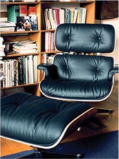 Eames Lounge Chair Ottoman Replica Premium Italian Leather
