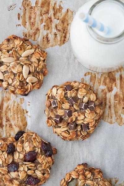 Biscotti con due ingredienti: banana e avena