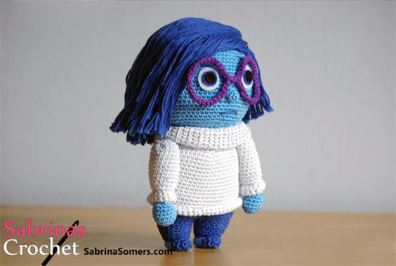 Download Sadness (Inside Out) Amigurumi Pattern (FREE)