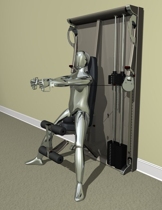 Home gyms pulley and gym on pinterest