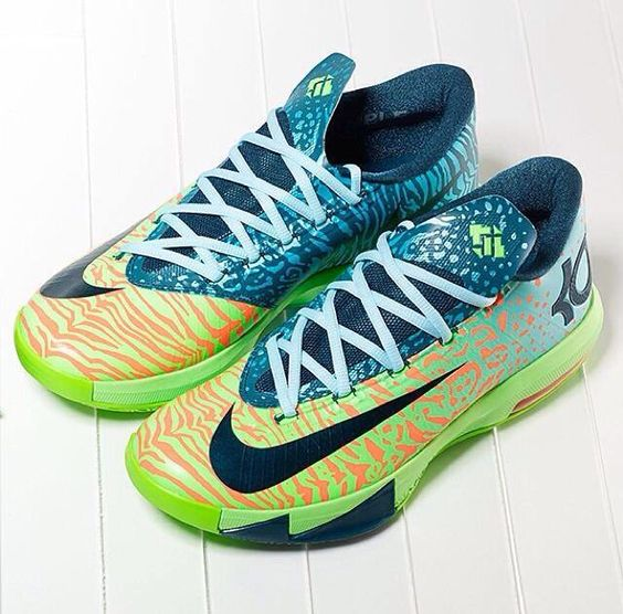 """KD VI """"Animal Gradient"""" These KD colorways are getting wild."""