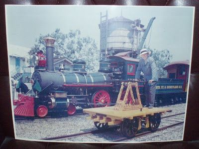 Here's a nice color photo of Walt on the hand cart with the #2 E.P. Ripley in the background. This photo is huge and would not fit in my scanner.