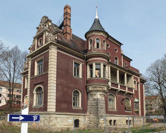 Villa Oeser, Gera, erbaut 1903-1904.