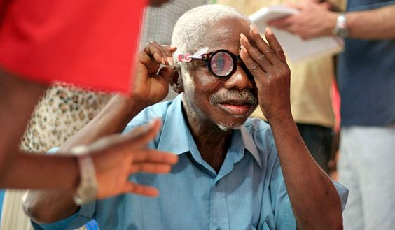 Self-adjustable eyeglasses. Developed by Dr. Joshua Silver, of the Center for Vision in the Developing World
