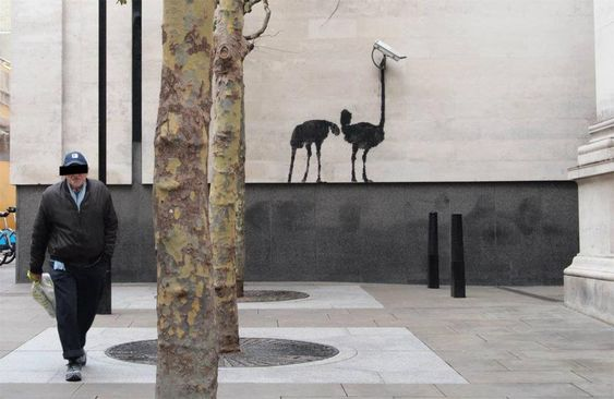 street_art_banksy_london_england_1: Banksy Work, Banksy Ostrich, Big Brother, Banksy Graffiti, Banksy Street, Street Art Banksy