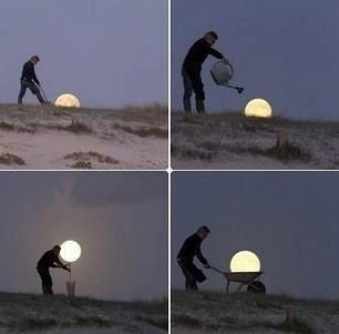 Playing with the moon!