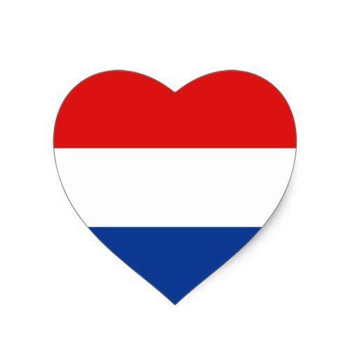 Netherlands Flag Heart Sticker Zazzle Com Netherlands Flag Heart Stickers Flag Art