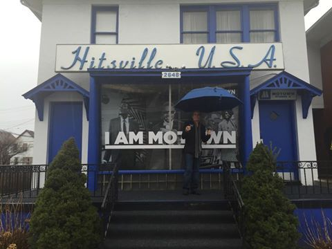 Michael in Detroit outside Motown Museum, Hitsville, 18th April, 2015.