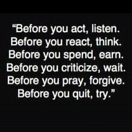 Before you quit, try!