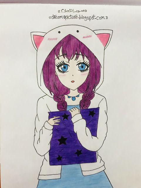 رسم بنات انمى بالخطوات Anime Art Blog