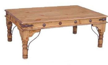 Honey Rustic Concho Coffee Table