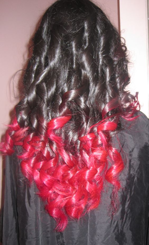 black hair with pink ends hair dye used paul mitchell