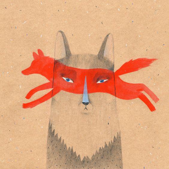 Their ancestors were wolves 30x30cm (12x12in) print. $25,00, via Etsy.