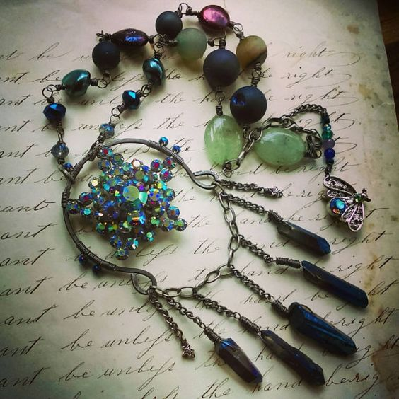 Check out this item in my Etsy shop https://www.etsy.com/listing/289090655/sale-starlight-necklace-vintage