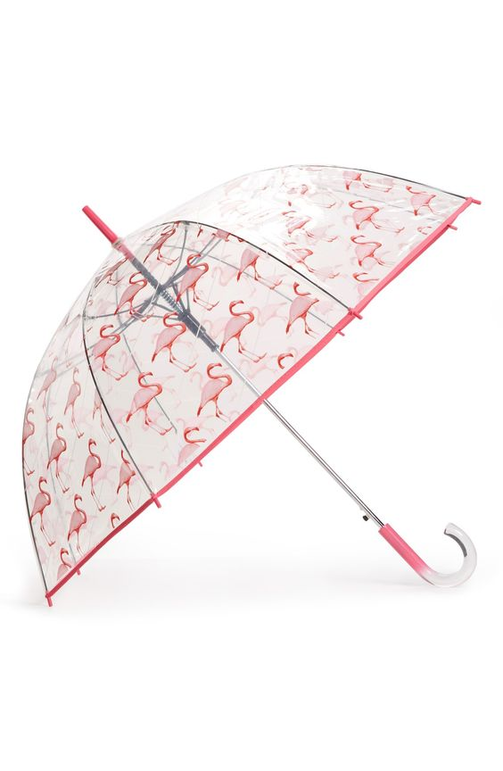 love this flamingo print umbrella