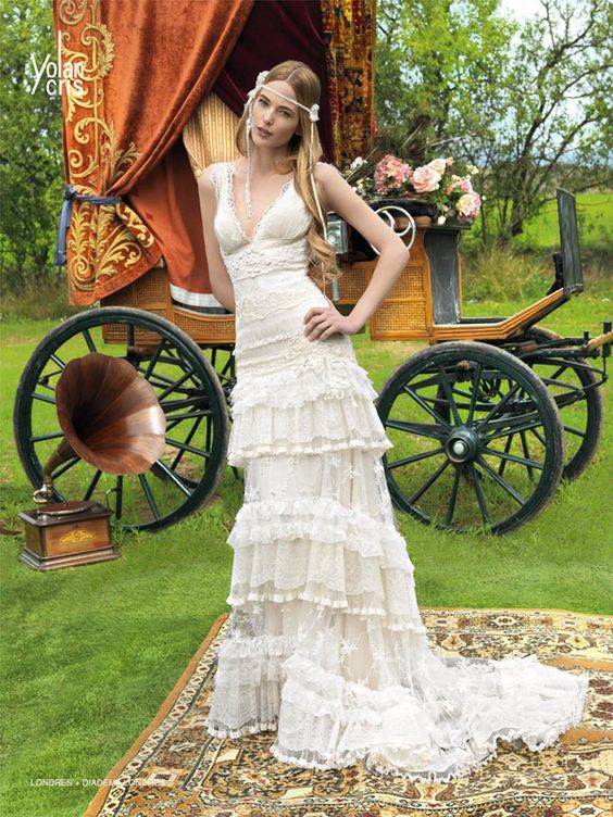 Hippie Brautkleider  Friedatheres  Wedding  Pinterest  Hippie ...